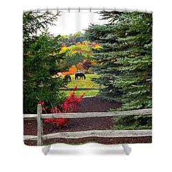 Ohio Farm In Autumn Shower Curtain