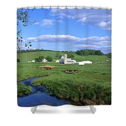 3d203 Ohio Farm Photo Shower Curtain