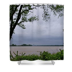 Ohio River Shower Curtain by Sandy Keeton