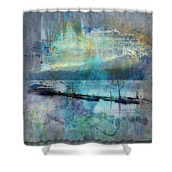 Ohio River Splatter Shower Curtain by Diana Boyd
