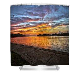 Ohio River Sunset Shower Curtain