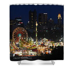 D3l-464 Ohio State Fair With Columbus Skyline Shower Curtain