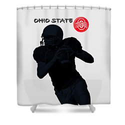 Ohio State Football Shower Curtain by David Dehner