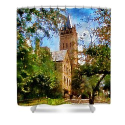 Ohio Wesleyan Chapel Shower Curtain