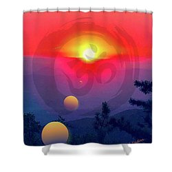 Ohm Shower Curtain by Jack Eadon