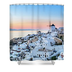 Oia, Santorini - Greec Shower Curtain
