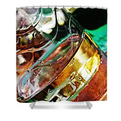 Oil And Water 28 Shower Curtain by Sarah Loft