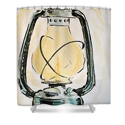 Shower Curtain featuring the painting Oil Lamp by Maria Langgle