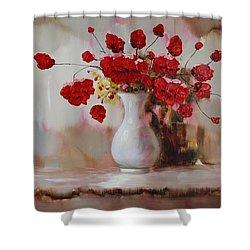 Oil Msc 009 Shower Curtain