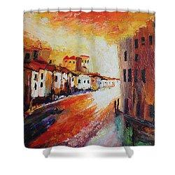 Oil Msc 013 Shower Curtain