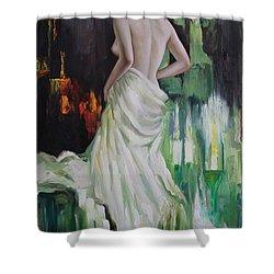 Oil Msc 016 Shower Curtain