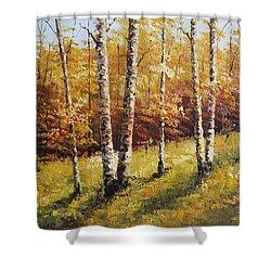 Oil Msc 028 Shower Curtain
