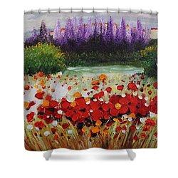 Oil Msc 031 Shower Curtain