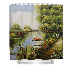 Oil Msc 038 Shower Curtain