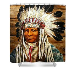 Full Head Dress Shower Curtain