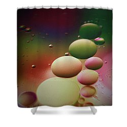 Oil Orbs And Colour Shower Curtain