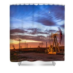Oil Rigs 3 Shower Curtain