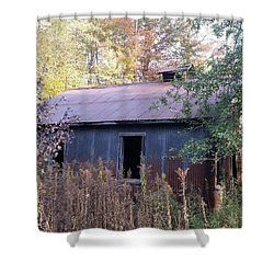 Oil Shed Shower Curtain