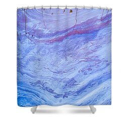 Oil Spill On Water Abstract Shower Curtain