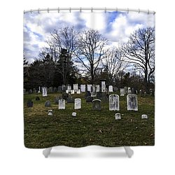 Old Town Cemetery Sandwich, Massachusetts Shower Curtain