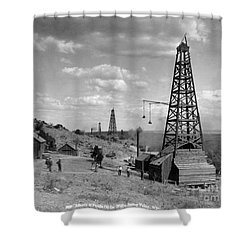 Oil Well, Wyoming, C1910 Shower Curtain
