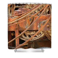 Oil Production Rig Shower Curtain