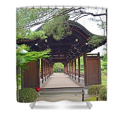 Okazaki Park And Heian Shrine Shower Curtain by Eva Kaufman