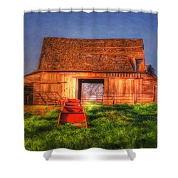 Oklahoma Barn Shower Curtain
