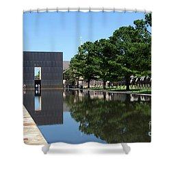 Oklahoma City National Memorial Bombing Shower Curtain