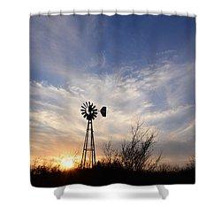 Oklahoma Skies Shower Curtain