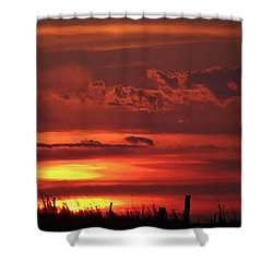 Oklahoma Sky At Daybreak  Shower Curtain