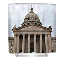 Oklahoma State Capitol - Front View Shower Curtain