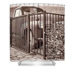 Ol' Chevy Castrated Shower Curtain by Charles Ables