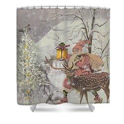 Ol' Saint Nick Shower Curtain by Diana Boyd