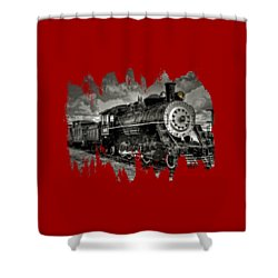 Old 104 Steam Engine Locomotive Shower Curtain