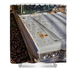 Shower Curtain featuring the photograph Old Abandoned Car Weare New Hampshire by Edward Fielding