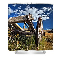 Old Abandoned Wagon, Bodie Ghost Town, California Shower Curtain by Sam Antonio Photography