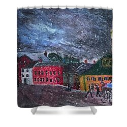 Old Amesbury Early Winter Shower Curtain