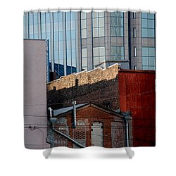 Old And New Close Together Shower Curtain by Susanne Van Hulst