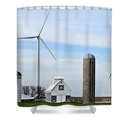 Old And New Farm Site Shower Curtain by Kathy M Krause
