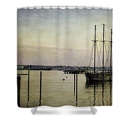 Old And New Shower Curtain