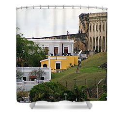 Old And New Shower Curtain by Lois Lepisto