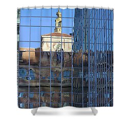 Shower Curtain featuring the photograph Old And New Patterns by Phyllis Denton