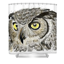 Shower Curtain featuring the digital art Old And Wise by Darren Cannell
