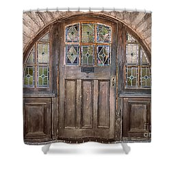 Old Archway And Door Shower Curtain by Sandra Bronstein