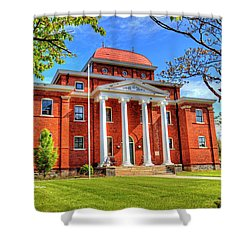 Old Ashe Courthouse Shower Curtain by Dale R Carlson
