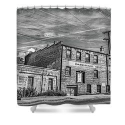 Old Asheville Building Shower Curtain