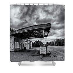 Old Auto Garage In Ellershouse Shower Curtain