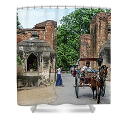 Old Bagan Shower Curtain by Werner Padarin