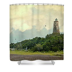 Old Baldy Shower Curtain